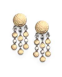 John Hardy - Metallic 18K Yellow Gold & Sterling Silver Dot Chandelier Earrings - Lyst