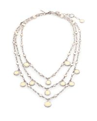John Hardy - Metallic Dot 18K Yellow Gold & Sterling Silver Triple-Row Bib Necklace - Lyst
