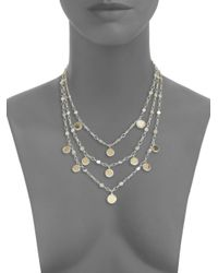 John Hardy - Metallic Dot 18K Yellow Gold & Sterling Silver Triple-Row Bib Necklace - Lyst