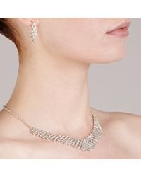 John Lewis - Metallic Diamante Collar And Drop Earrings Set - Lyst