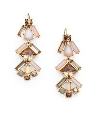 kate spade new york - Multicolor Faceted Cluster Drop Earrings - Lyst