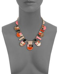 kate spade new york - Multicolor Geometric Stone Necklace - Lyst