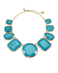 kate spade new york | Blue Bold Stone Necklace | Lyst