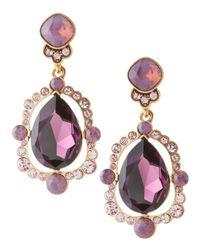 Oscar de la Renta - Purple Chandelier Crystal Earrings Aubergine - Lyst