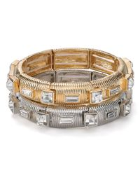 R.j. Graziano - Metallic Stretch Bracelet - Lyst