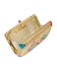 Sylvia Toledano | Multicolor Love Swarovski Crystalembellished Box Clutch | Lyst