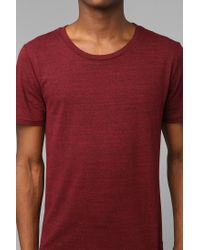 Urban Outfitters - Red Bdg Tri-blend Wide-neck Tee for Men - Lyst