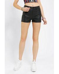 Urban Outfitters - Black Bdg 5pocket Vegan Leather Short - Lyst