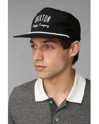 Urban Outfitters - Black Brixton Carbon Snapback Hat for Men - Lyst