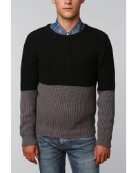 Urban Outfitters - Gray Cpo Colorblock Shaker Sweater - Lyst