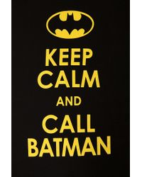 Urban Outfitters - Black Keep Calm and Call Batman Tee for Men - Lyst