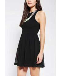 Urban Outfitters - Black Kimchi Blue Smocked Prairie Dress - Lyst