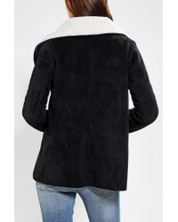 Urban Outfitters - Black Sherpa Jacket - Lyst