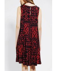 Urban Outfitters - Red Ecote Nicole Skater Dress - Lyst