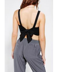 Urban Outfitters - Black Pins and Needles Bowback Cropped Tank Top - Lyst