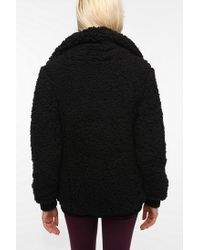 Urban Outfitters | Black Pins and Needles Teddy Bomber Jacket | Lyst