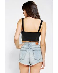 Urban Outfitters - Black Silence Noise Perforated Vegan Leather Bra Top - Lyst