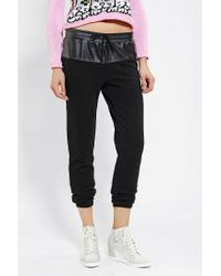Urban Outfitters - Black Sparkle Fade Vegan Leatherblock Sweatpant - Lyst