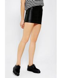 Urban Renewal | Black Leather Moto Skirt | Lyst