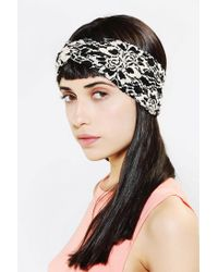 Urban Outfitters - Black Vivienne Lace Headwrap - Lyst