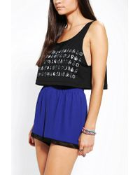 Urban Outfitters | Black Warpaint Mystical Signs Cropped Tank Top | Lyst