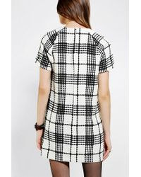 Urban Outfitters - Black Coincidence Chance Textured Plaid Shift Dress - Lyst