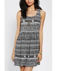 Urban Outfitters - Black Ecote Peekaboo Babydoll Dress - Lyst
