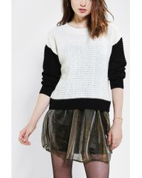 Urban Outfitters | White Lucca Couture Colorblock Sweater | Lyst