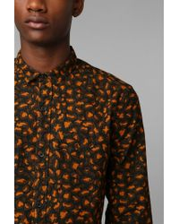 Urban Outfitters | Orange Your Neighbors Leopard Button Down Shirt for Men | Lyst