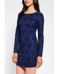 Urban Outfitters - Blue Elliatt Amos Long Sleeve Lace Dress - Lyst