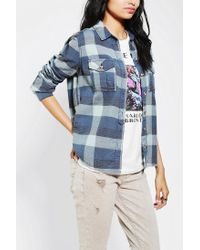 Urban Outfitters | Blue Bdg Shrunken Buttondown Shirt | Lyst