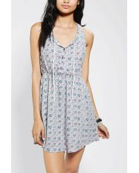 Urban Outfitters | Blue Ecote Tieneck Tank Dress | Lyst