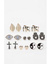 Urban Outfitters | Metallic Treasure Island Earring Set | Lyst
