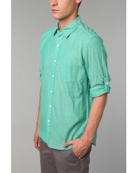 Urban Outfitters | Green Hawkings Mcgill Breezy Button down Shirt for Men | Lyst