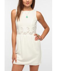 Urban Outfitters | White Pins and Needles Crepe Lace Waist Dress | Lyst