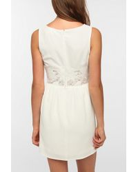 Urban Outfitters - White Pins and Needles Crepe Lace Waist Dress - Lyst