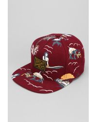 c3ff927a5b1 Lyst - Urban Outfitters Dark Seas Drifter Snapback Hat in Purple for Men