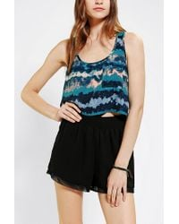 Urban Outfitters | Multicolor Ecote Adina Cropped Tank Top | Lyst