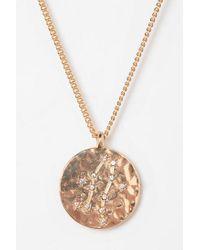 Urban Outfitters | Metallic Rhinestone Zodiac Necklace | Lyst