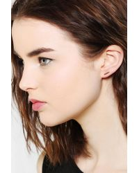 Urban Outfitters | Metallic Adina Reyter Tiny Bar Stud Earrings | Lyst