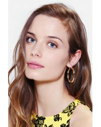 Urban Outfitters - Metallic Baby Bamboo Hoop Earring - Lyst
