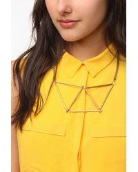Gabriela Artigas - Metallic Geometrical Chest Plate Necklace - Lyst