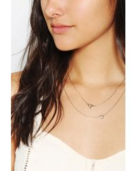 Urban Outfitters | Metallic Heart It Doublelayer Necklace | Lyst