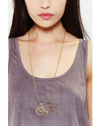 Urban Outfitters | Metallic Monserat De Lucca Bicycle Necklace | Lyst