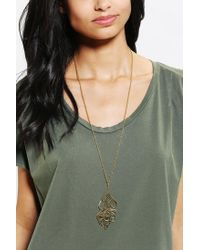 Urban Outfitters - Metallic Monserat De Lucca Sculpted Feather Necklace - Lyst