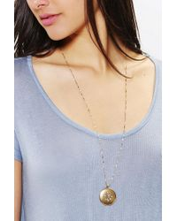 Urban Outfitters - Metallic Locket Necklace - Lyst