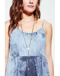 Vanessa Mooney - Metallic Fly Awhile Rosary Necklace - Lyst