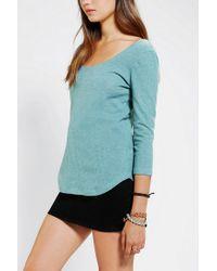 BDG - Green Winterlite Scoopneck Shirt - Lyst