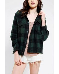 Urban Outfitters - Green Snap X Urban Renewal Hooded Flannel Shirt for Men - Lyst