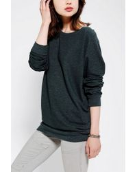 Urban Outfitters - Green Sparkle Fade Pullover Tunic Sweatshirt - Lyst